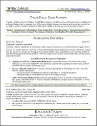 Resume For Career Change Sample by Event Planner Resume Event Planner Resume Career Transition
