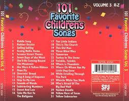 101 favorite childrens songs vol 3 r z various artists