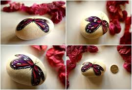 Butterfly Desk Accessories Painted Rocks Desk Accessories Set Desk Decor By Theluckystones
