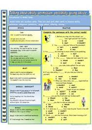 156 free esl modal verbs worksheets