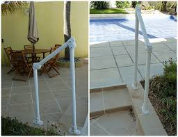 pool deck stair handrail surface 29 simple rail installation