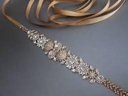 grosgrain ribbon belt bridal belt sash gold bridal belt rhinestone