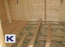 log floor fitting the log cabin floor insulation