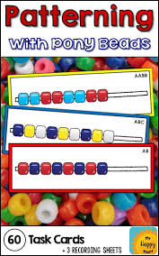 pattern practice games pony beads pattern task cards pony bead patterns pony beads and