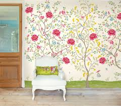 colorful vibrant decorating brewster home floral wall mural