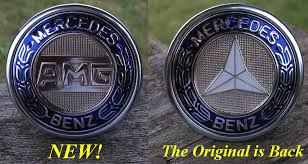 new amg flat badge available white flat badges back in