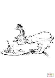 green eggs and ham coloring page for eggs and ham coloring pages