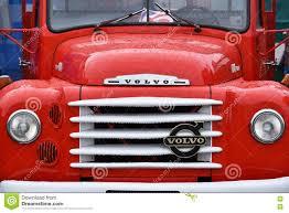 red volvo truck oldtimer volvo truck editorial stock image image 75193059