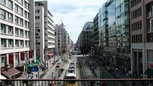 munich germany busy city shopping 4k 011 stock
