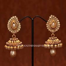 jhumka earrings online shopping gorgeous pearl buttalu designs pearls and indian jewelry