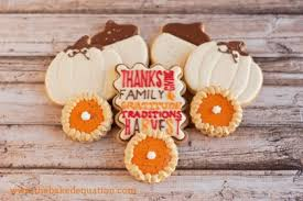thanksgiving cookies the baked equation