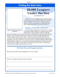 ideas of main idea worksheets 8th grade on summary huanyii com