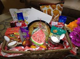 summer picnic themed gift basket my creations