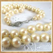 glass pearl necklace images Vintage jewelry glass pearl necklace sterling clasp 22 poshmark jpg