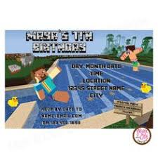 7 50 minecraft pool party girls personalized invitation