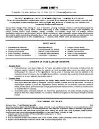 Controller Resume Examples by Project Controls Specialist Resume Template Premium Resume