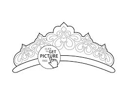 tiara coloring page for girls printable free
