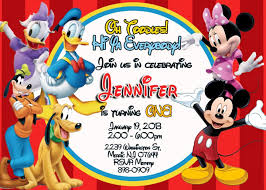Free Online Birthday Invitation Cards For Kids Free Printable Mickey Mouse Clubhouse Invitations Template Baby
