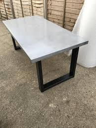 concrete top dining table parsons concrete top spectacular concrete dining table wall