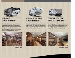 cougar floor plans 2016 keystone rv cougar half ton brochure rv literature