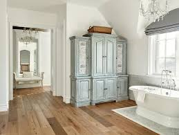 Bathroom Linen Cabinet Gray Distressed Bathroom Linen Cabinet With Lattice Doors French