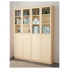 Billy Bookcases With Doors Furniture Home New White Ikea Billy Bookcase Oxberg Door South