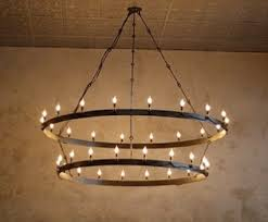 Making Chandeliers At Home Barrel Ring Chandelier Just Curious How To Make It Myself
