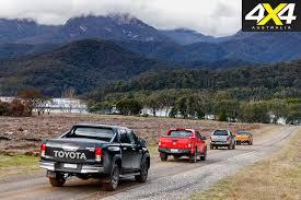 volkswagen colorado toyota hilux trd v ford ranger wildtrak v holden colorado z71 v