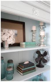 Blue Bookcases Creative Bookshelf Styling And Layering Tricks Antique Fans