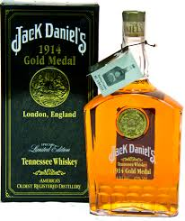 Jack Daniels Curtains Jack Daniels 1914 Gold Medal Bottle Spanish Tax Stamp Boxed 1litre