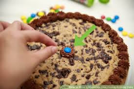 make birthday cake how to make a chocolate chip cookie birthday cake 14 steps