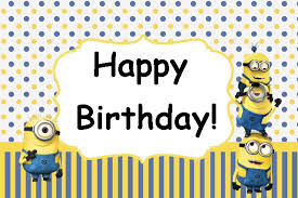 minions minion movie birthday party card instant