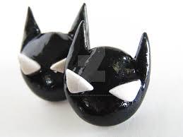 batman earrings batman polymer clay hypoallergenic earrings by veruniquecreations