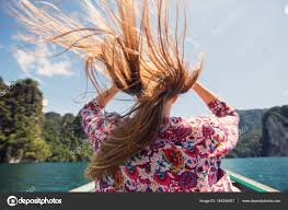 Photos Portrait Of Beautiful Traveling By Boat U2014 Stock Photo