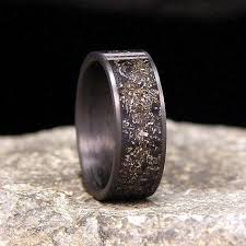 Meteorite Wedding Ring by 17 Best Images About Rings On Pinterest Unique Mens Wedding