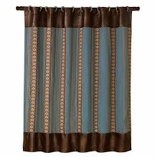 Southwest Shower Curtains Southwest Santa Fe Shower Curtain With Coordinating Rings Cabin Place