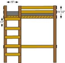 Plans Build Bunk Bed Ladder by Bunk Beds Amish Ladder Loft Bunk Bed Kids Rooms Pinterest