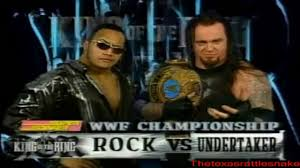 the rock vs the undertaker king of the ring 1999 video dailymotion