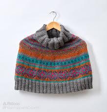 patons fair isle knit capelet knit pattern yarnspirations