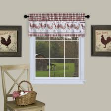 Burgundy Curtains With Valance Barnyard Window Curtain Valance Valance Curtains