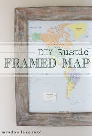 Poster Frame Ideas Best 25 Map Frame Ideas On Pinterest Map Art Map Crafts And