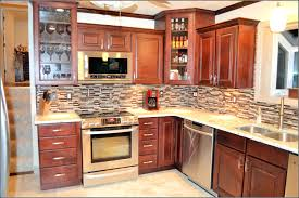 kitchen backsplash ideas with cherry cabinets wainscoting hall