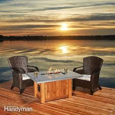 How To Make A Table Fire Pit - how to build a fire table family handyman