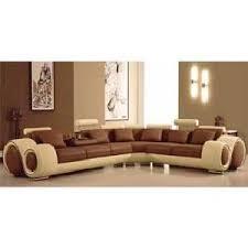 canapé d angle en cuir marron canapé d angle cuir marron et beige têtières achat vente