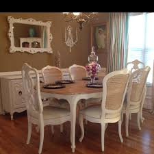 white french provincial dining room set 16421