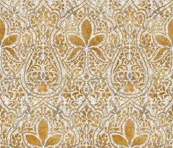 gold fabric rajkumari white with silvered and gilt gold batik fabric