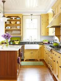 yellow kitchen wood cabinets decorating with color yellow cottage style kitchen