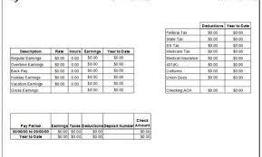 doc 680800 free check stub templates u2013 3 check stub templates