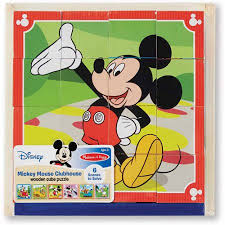 disney mickey mouse clubhouse wooden cube puzzle walmart