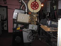 home movie theater projector inside cygnet cinema projection room perth